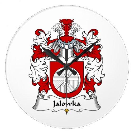 Escudo de la familia de Jalowka Reloj Redondo Grande