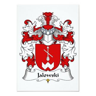 """Escudo de la familia de Jalowski Invitación 5"""" X 7"""""""
