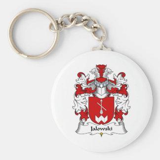 Escudo de la familia de Jalowski Llavero Redondo Tipo Pin