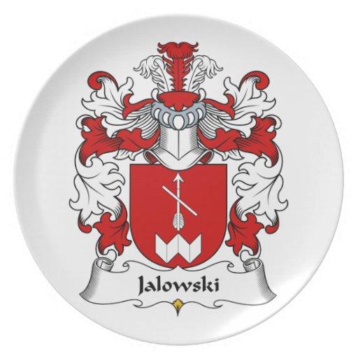 Escudo de la familia de Jalowski Plato De Cena
