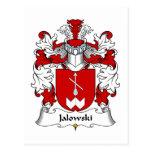 Escudo de la familia de Jalowski Postal