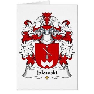 Escudo de la familia de Jalowski Tarjeta De Felicitación