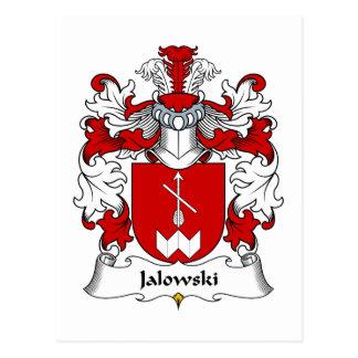 Escudo de la familia de Jalowski Tarjeta Postal
