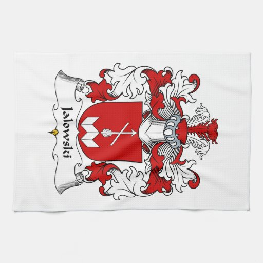 Escudo de la familia de Jalowski Toallas De Mano
