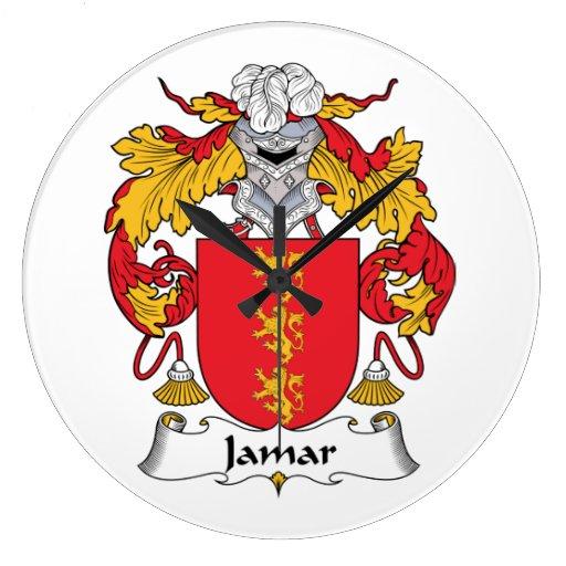 Escudo de la familia de Jamar Reloj Redondo Grande