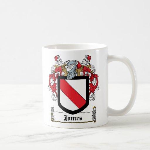 Escudo de la familia de James Taza Básica Blanca