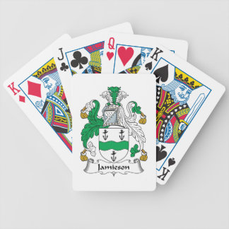 Escudo de la familia de Jamieson Baraja Cartas De Poker