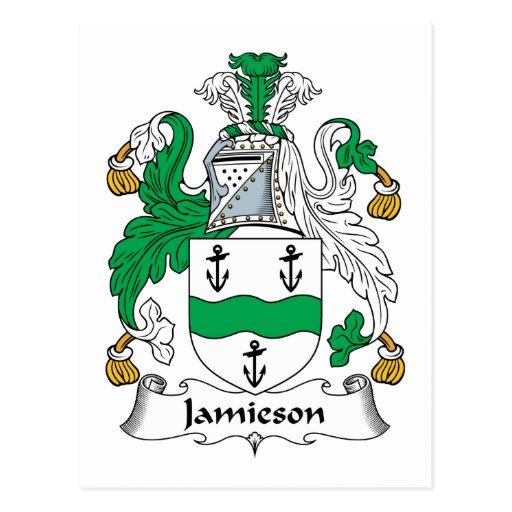 Escudo de la familia de Jamieson Postal