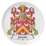 Escudo de la familia de Jamin Platos Para Fiestas