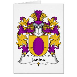 Escudo de la familia de Janina Tarjeta De Felicitación