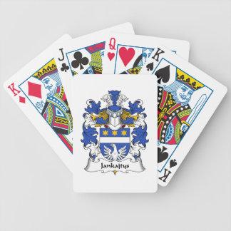 Escudo de la familia de Jankajtys Baraja Cartas De Poker