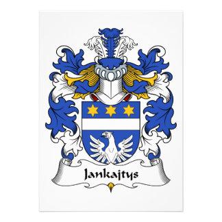 Escudo de la familia de Jankajtys Invitaciones Personalizada