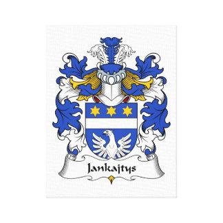 Escudo de la familia de Jankajtys Impresión En Lona