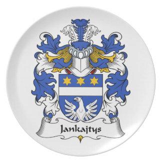 Escudo de la familia de Jankajtys Plato Para Fiesta