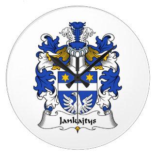 Escudo de la familia de Jankajtys Reloj De Pared