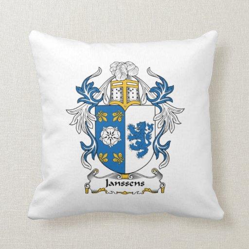 Escudo de la familia de Janssens Almohadas