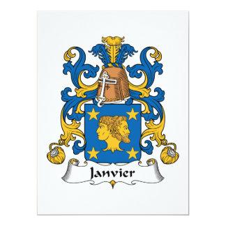 """Escudo de la familia de Janvier Invitación 6.5"""" X 8.75"""""""