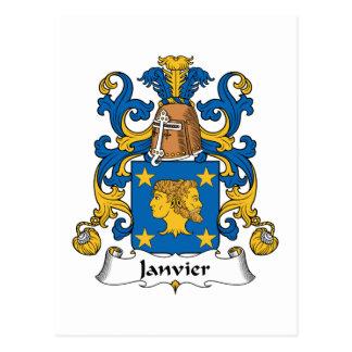 Escudo de la familia de Janvier Postales