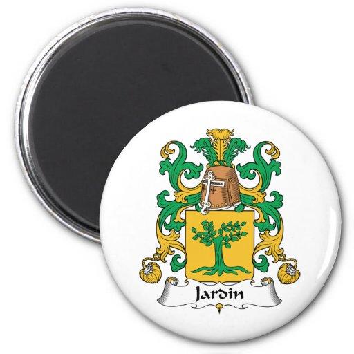 Escudo de la familia de Jardin Imán Redondo 5 Cm