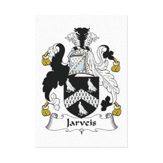 Escudo de la familia de Jarveis Lona Envuelta Para Galerias