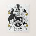 Escudo de la familia de Jarveis Puzzle Con Fotos
