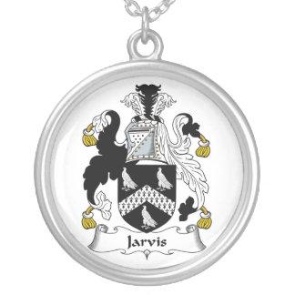Escudo de la familia de Jarvis Colgante Redondo