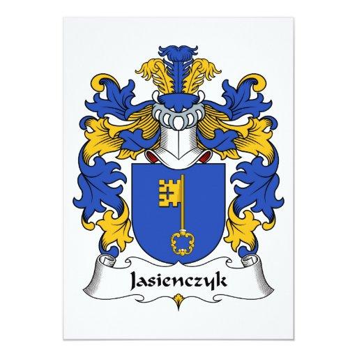 Escudo de la familia de Jasienczyk Invitación