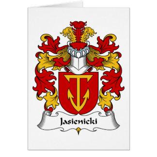 Escudo de la familia de Jasienicki Tarjeta De Felicitación