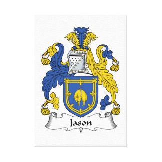 Escudo de la familia de Jason Lienzo Envuelto Para Galerias