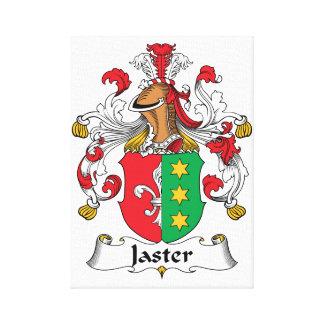 Escudo de la familia de Jaster Impresión De Lienzo