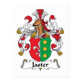 Escudo de la familia de Jaster Tarjeta Postal