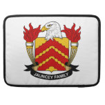 Escudo de la familia de Jauncey Funda Para Macbooks
