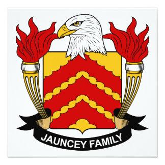 """Escudo de la familia de Jauncey Invitación 5.25"""" X 5.25"""""""