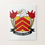 Escudo de la familia de Jauncey Rompecabeza Con Fotos