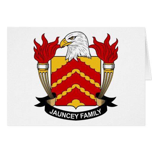 Escudo de la familia de Jauncey Tarjeta