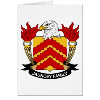 Escudo de la familia de Jauncey Tarjeta De Felicitación