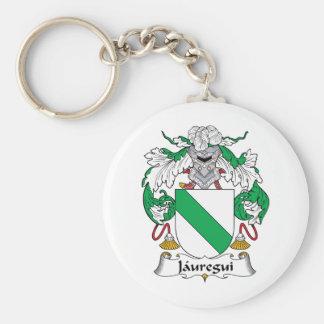 Escudo de la familia de Jauregui Llavero Redondo Tipo Pin