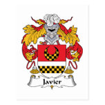 Escudo de la familia de Javier Tarjeta Postal