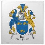 Escudo de la familia de Jay Servilleta Imprimida