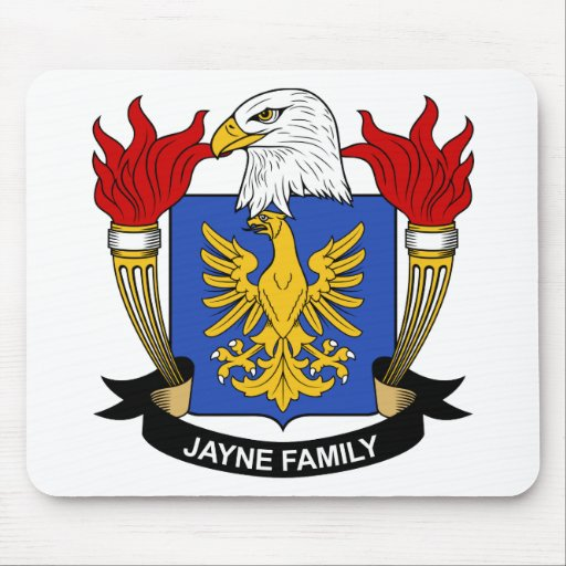 Escudo de la familia de Jayne Alfombrillas De Raton