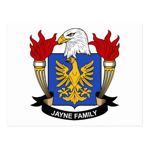 Escudo de la familia de Jayne Tarjeta Postal