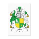 Escudo de la familia de Jebb Impresión De Lienzo