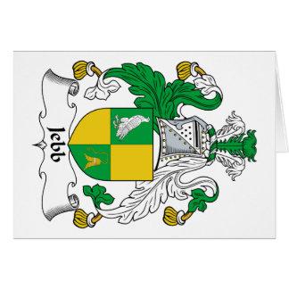 Escudo de la familia de Jebb Tarjeta De Felicitación
