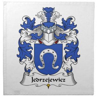 Escudo de la familia de Jedrzejewicz Servilleta Imprimida