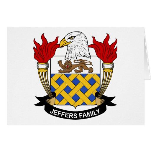 Escudo de la familia de Jeffers Felicitación