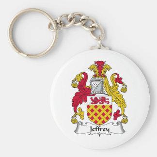 Escudo de la familia de Jeffrey Llavero Redondo Tipo Pin