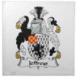 Escudo de la familia de Jeffreys Servilleta De Papel