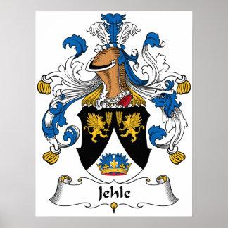 Escudo de la familia de Jehle Posters