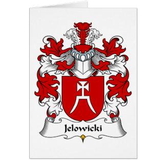 Escudo de la familia de Jelowicki Tarjeta De Felicitación