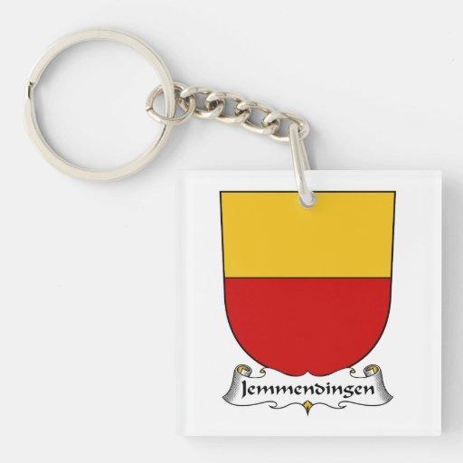 Escudo de la familia de Jemmendingen Llavero Cuadrado Acrílico A Una Cara